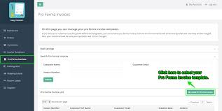 how to create and send pro forma invoices softify easy invoice create pro forma invoice