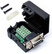 <b>RS232</b> D-SUB <b>DB9</b> Female Adapter to Terminal Connector Signal ...