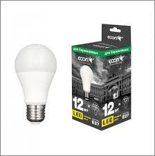 <b>Лампа светодиодная ECON LED</b> A 12Вт E27 3000K ES - купить в ...