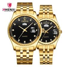 CHENIX Gold <b>Watch Men Women Watches</b> Luxury <b>Fashion</b> ...
