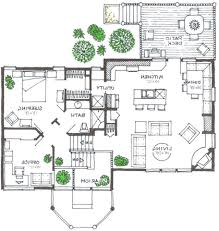RUSTIC  Supreme Green Home  Split Level House PlanView Reverse Floor Plan Image
