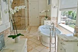 bathroom floor tiled country