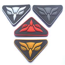 PVC Owl head <b>Military</b> paches ISAF <b>combat</b> Badge hook fastener ...