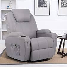 Esright Grey Fabric Massage Recliner Chair 360 ... - Amazon.com