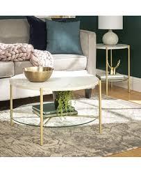 Walker Edison <b>2</b>-<b>Piece</b> Round <b>Coffee Table</b> Set & Reviews - Furniture