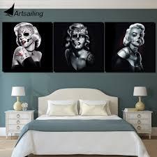 <b>3 panel Canvas</b> wall <b>art</b> Marilyn Monroe sugar skull <b>canvas painting</b> ...