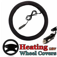 Winter <b>car Heated Steering Wheel</b> Cover 12V <b>Auto Car</b> Cigar Lighter ...