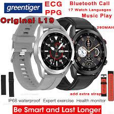 L19 <b>Smart Watch</b> Men Bluetooth Call IP68 Waterproof ECG <b>PPG</b> ...