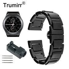 20mm <b>Ceramic Watchband for</b> Samsung Gear S2 Classic R732 ...