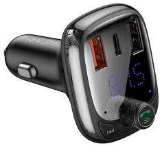 зарядное устройство с Bluetooth <b>FM трансмиттером Baseus T</b> ...