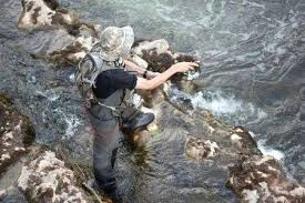 <b>Man Fishing</b> In The River. <b>Fisher</b> In Water. <b>Fisherman</b> Show <b>Fishing</b> ...