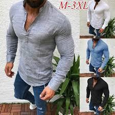 <b>Zogaa Brand Mens Fashion</b> Long Sleeve T shirt Solid Button Up V ...