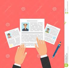 concept of job interview business cv resume stock vector concept of job interview business cv resume