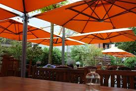 patio ft cantilever umbrella: patio ft square cantilever square commercial umbrellas p series shelter outdoor living
