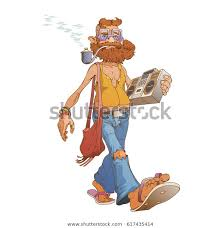 <b>Hipster</b> Hippie Walks <b>Tape Recorder</b> His Stock Vector (Royalty Free ...