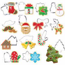 Christmas Cookie Cutter <b>Stainless Steel Cut</b> Candy Biscuit <b>Mold</b> ...