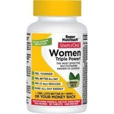 Super Nutrition <b>Simply One 50 Women</b> Triple Power 30 Tabs Brand ...