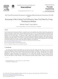 (PDF) Increasing of the Cutting Tool Efficiency from Tool <b>Steel</b> by ...