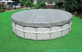 <b>Тент Intex 28041</b> для круглых каркасных бассейнов 549 см ...