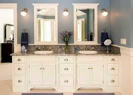 white double sink bathroom custom made bathroom cabinets with black color ideas with cream