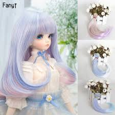 <b>1pieces Extension doll wigs</b> 15*100cm Natural Color straight doll ...