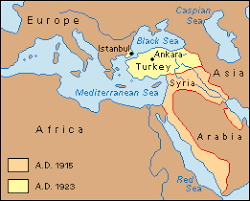 「the territory map of turkey after Armistice of Mudros signed in 1918」の画像検索結果