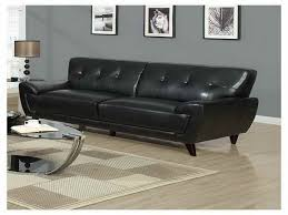 vintage black leather sofa black leather mid century