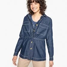 <b>Рубашка</b> из денима 100% хлопок с длинными рукавами темно ...