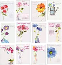 12 Floral <b>Glitter Birthday Cards</b>: Amazon.co.uk: Office Products