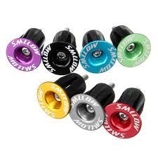 smllow <b>1 pair aluminum alloy</b> cycling bike handlebar grips cap plug ...