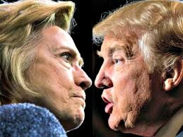 Image result for images of Donald Trump and Hillary Clinton