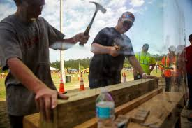 expo shows students alternatives to college clay today students form middleburg high school compete in a hammering contest during the fdot construction career day
