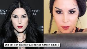 "<b>Kat Von D</b> defends her ""terrible"" new blackout tattoo following ..."