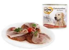 <b>Консервы</b> для собак <b>Мнямс Сальтимбокка по-Римски</b> телятина с ...