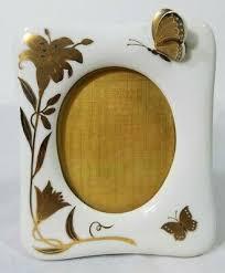 Vintage <b>Golden Butterfly</b> Boutique <b>Picture Frame</b> Box 1984 Arnart ...