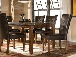 Dining Room Tables Furniture Wenge Wood Middle Frosted Glass Dining Table Set Dining Room Sets