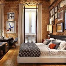 1000 ideas about exposed brick bedroom on pinterest brick bedroom exposed brick and brick wallpaper bedroomterrific eames inspired tan brown leather short