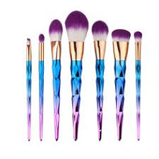 <b>10 Pieces Glitter Makeup</b> Brushes Set in 2019 | <b>Beauty</b> tools. | Hair ...