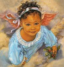 Image result for little girl angel painting by sandra k