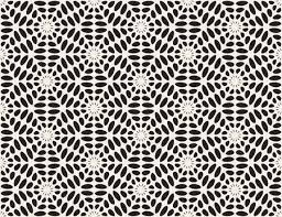 Vector Black And White Rounded <b>Ellipse Lace</b> Star Pattern Abstract ...