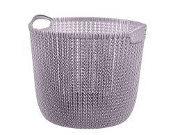 <b>Корзина</b> для хранения Knit 30л <b>круглая</b> фиолетовая пастель ...