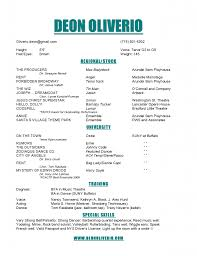 theater resume examples musical theatre template technical theater gallery of theater resume template