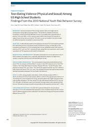 teen dating violence among us high school students adolescent first page pdf preview