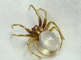 antique moonstone <b>spider</b> brooch circa early 1910s | Antique ...