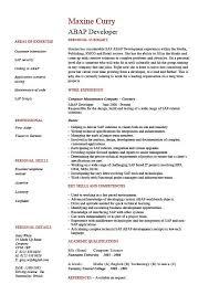 abap developer resume templates examples sample job description sap sample sap resume sample sap mm consultant cover letter