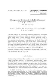 schumpeterian growth and the political economy of employment inside