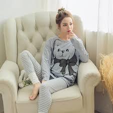 2019 <b>Womens</b> Pajamas Sets 2018 Summer <b>Round Neck Cartoon</b> ...