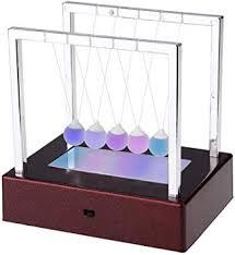 <b>LED Light</b> Up <b>Newton</b> Cradle Balance Balls <b>Newton Swing</b> Glass ...