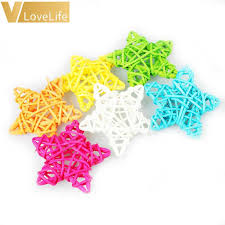 Natural Rattan Stars <b>10Pcs</b>/<b>Set</b> Rattan Ball <b>6cm</b> Home Decoration ...