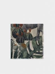 <b>Leaf Print</b> Scarf - Green - <b>Woman</b> - Printed - parfois.com